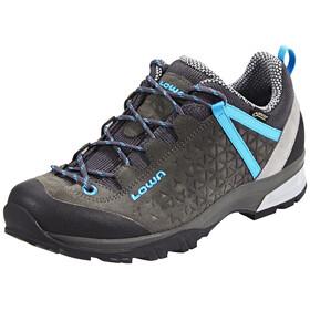 Lowa Sassa GTX Low Shoes Women anthracite/blue